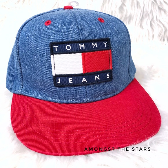d2d7a204fe40 Tommy Hilfiger Urban Outfitters Denim Snapback Hat